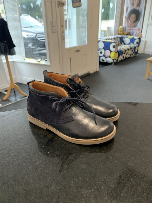 navy ankle boot
