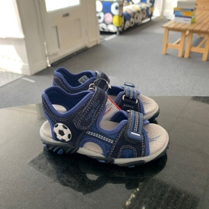Superfit Sandals in blue with football design